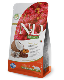 FARMINA N&D Cat Quinoa Adult SKIN & COAT herring, coconut 1,5 kg